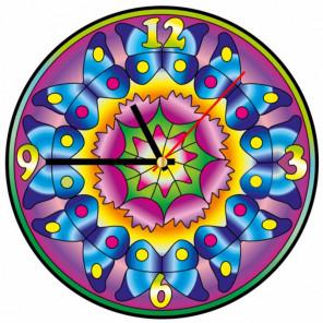 Бабочки Набор для создания витражных часов Color Kit