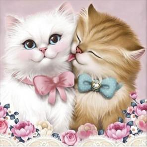 Кот и кошка Алмазная вышивка мозаика АЖ-1296